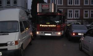 Bild: Drehleiter-Fahrprobe (zur Verfügung gestellt von Innensenator Möller)