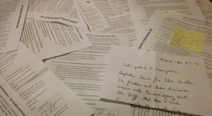 Unterschriftenlisten