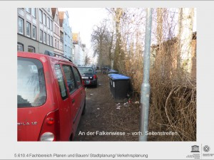 """Befestigung des Seitenstreifens """"An der Falkenwiese"""""""